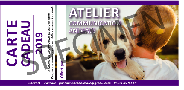 communication animale carte cadeau